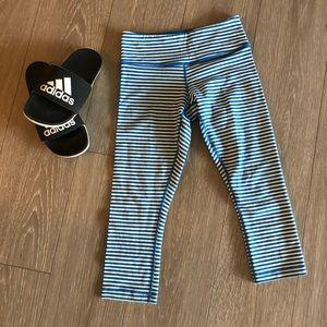Lululemon Striped Capri Skinny Leggings Stripe